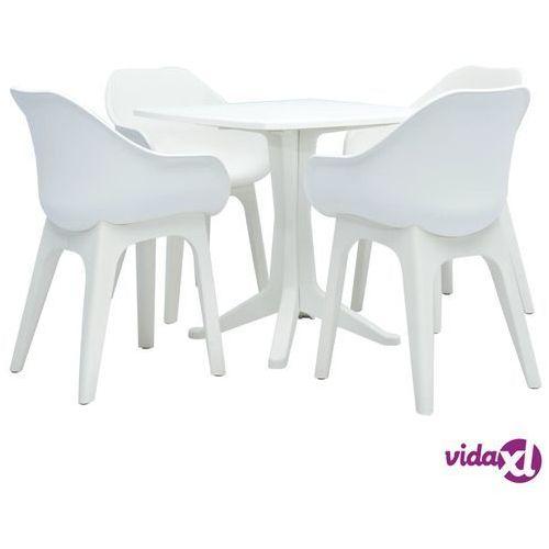 Vidaxl 5-częściowy zestaw mebli ogrodowych, plastikowy, biały (8719883563879)