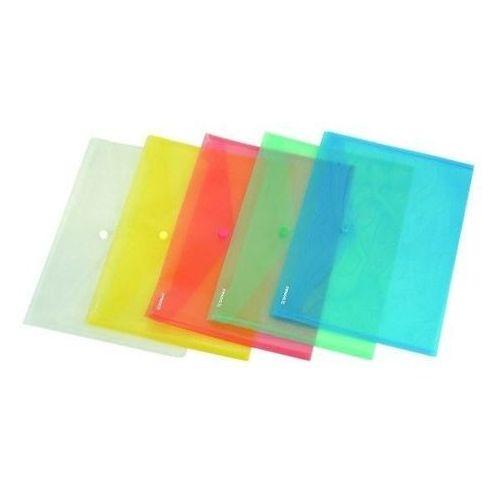 Teczka kopertowa PP na zatrzask A7 w transparentnych kolorach DONAU ekologiczna, NB-1395