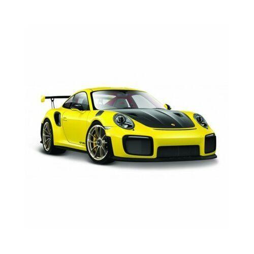 Model metalowy porsche 911 gt2 rs żółty 1:24 marki Maisto