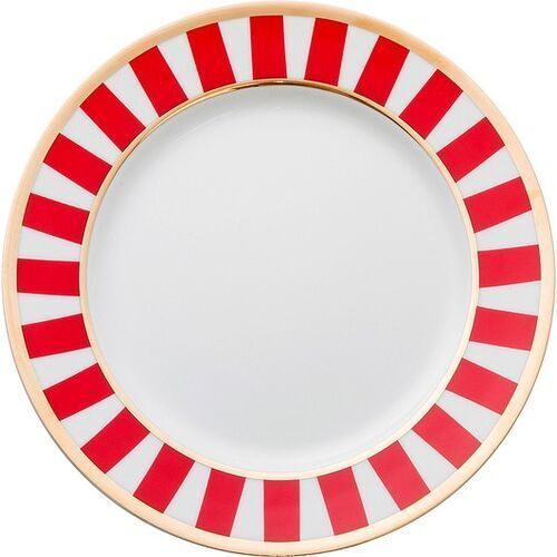 La mania home Talerzyki deserowe stripes czerwone 6 szt.