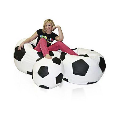 , pufa football - piłka - zestaw xxxl+xxl+l marki Polskie pufy