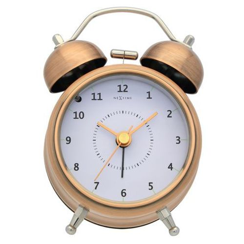 Budzik Nextime Wake Up 9 cm copper, 5111 CO