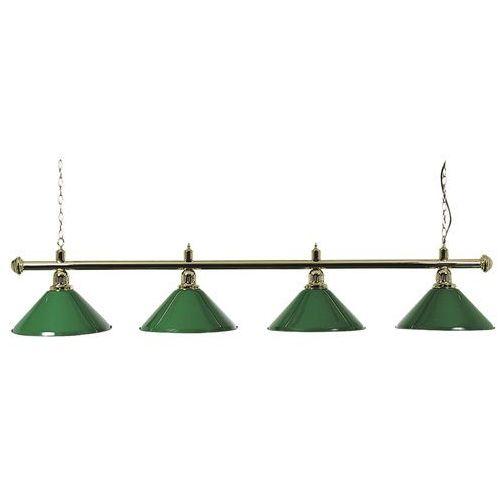 Lampa NOSTALGIA L4 złota klosze zielone, 4B-0061-4
