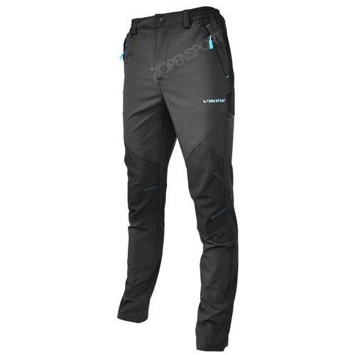 SPODNIE TREKKINGOWE VIKING ALASKA MAN CZARNY / NIEBIESKI XL, kolor czarny