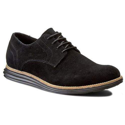 Calvin klein Półbuty jeans - sean suede se8471 black