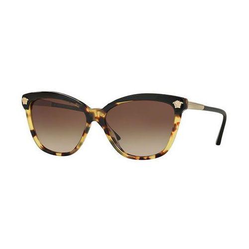 Okulary Słoneczne Versace VE4313A Asian Fit 517713, kolor żółty