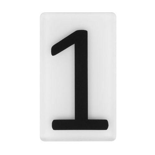 Cyfra 1 wys. 5 cm plexi czarna na białym tle (5905367009152)