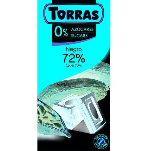 Czekolada Gorzka 72% Kakao bez cukru 75 g Torras (8410342006585)