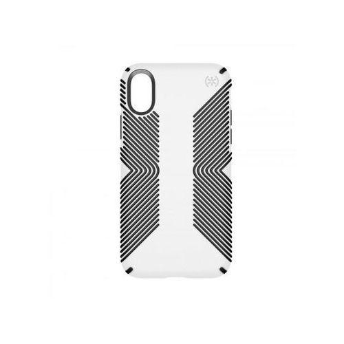 Etui SPECK Presidio Grip do Apple iPhone X Biało - czarny (0848709048615)