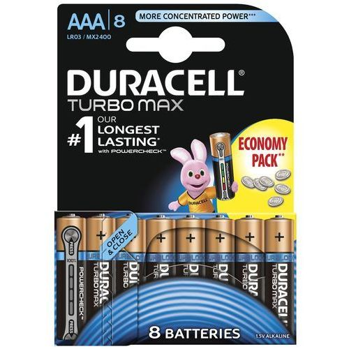Bateria DURACELL Turbo Max LR03/AAA 8 szt. (5000394072053)