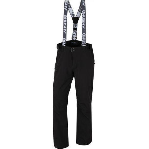 Husky spodnie narciarskie męskie galti m, czarne m (8592287079326)