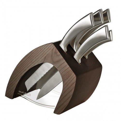 Bugatti Trattoria blok noży jasne drewno + 5 noży ergo ciemny blok