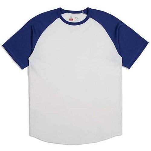Koszulka - basic s/s baseball tee off white/cobalt (owcob) rozmiar: l marki Brixton