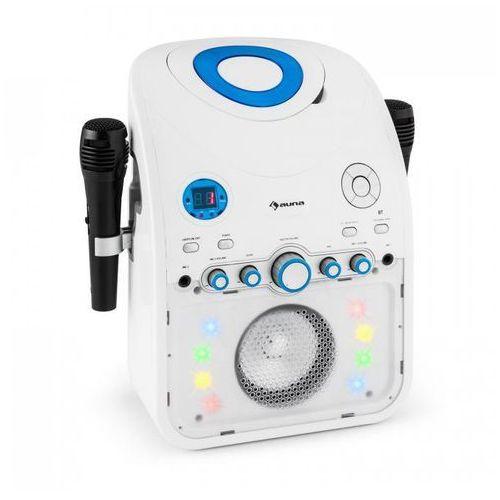 StarMaker Zestaw karaoke Odtwarzacz CD Bluetooth AUX Efekt świetlny LED 2 x mikrofon (4260435912934)