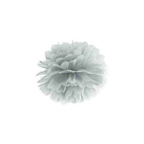 Ap Dekoracja wisząca pompon kwiat - srebrna - 25 cm - 1 szt.