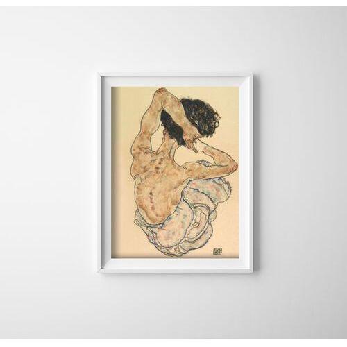 Plakaty w stylu retro Plakaty w stylu retro Egon Schiele W pozycji siedzącej