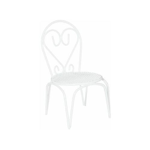 Tajemniczy ogród Krzesło metalowe mini 10 x 6 x 5,5 cm białe do lasu w słoiku (5903039407602)