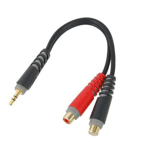 Klotz AYS-4 kabel 2x RCA gniazdo <-> 1x mini TRS wtyk 0,2 m