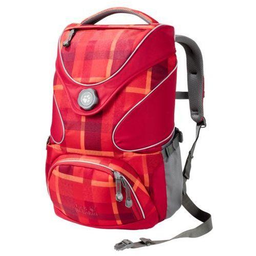Jack wolfskin Plecak szkolny ramson top 20 - indian red woven check