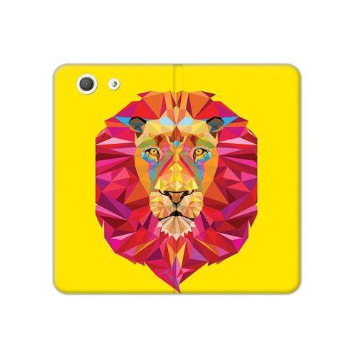 Sony Xperia Z3 Compact - etui na telefon Flex Book Fantastic - geometryczny lew