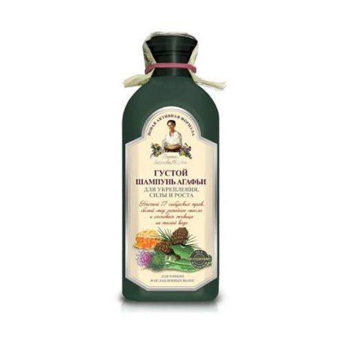 Babuszka agafia szampon gęsty wzmacniający do włosów cienkich i łamliwych 350ml marki Pierwoje reszenie, rosja