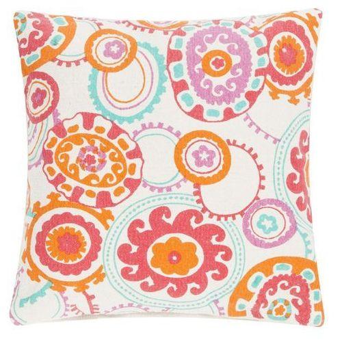 Poduszka colour jam 45x45 - różowy ||kremowy ||turkusowy ||pomarańczowy marki D2.design