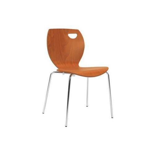 krzesło CAFE IV ALU/Black SEAT PLUS, kolor czarny