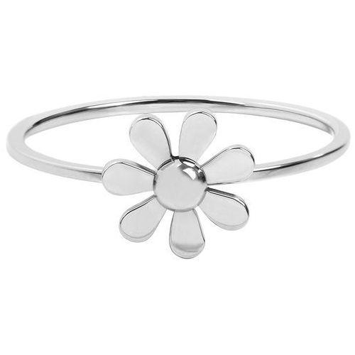 pierścień ze stali nierdzewnej z kwiatem (obwód 49 mm) marki Troli