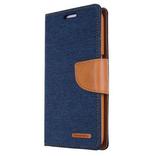 canvas diary - etui iphone 7 plus z kieszeniami na karty + stand up (granatowy/camel) - szybka wysyłka - 100% zadowolenia. sprawdź już dziś! marki Mercury