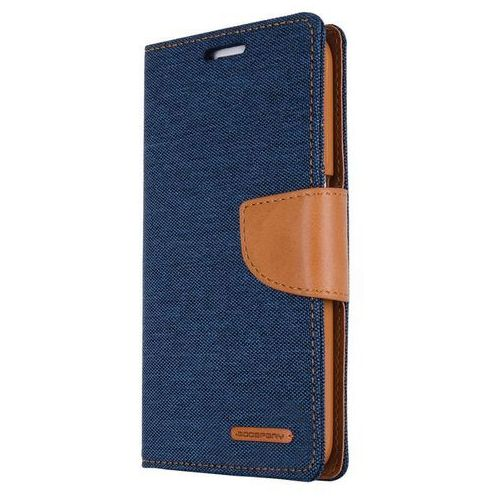 Mercury Canvas Diary - Etui iPhone 7 Plus z kieszeniami na karty + stand up (granatowy/camel) - Szybka wysyłka - 100% Zadowolenia. Sprawdź już dziś!, 1475