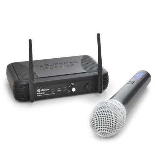 Skytec Bezprzewodowy mikrofon uhf stwm721 1 kanał 1 mikrofon