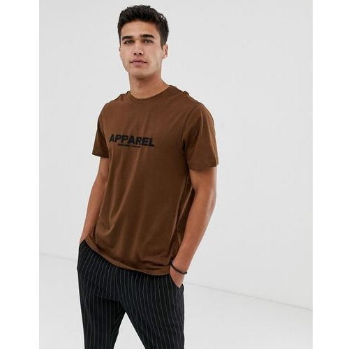 New Look oversized t-shirt with apparel print in brown - Brown, kolor brązowy