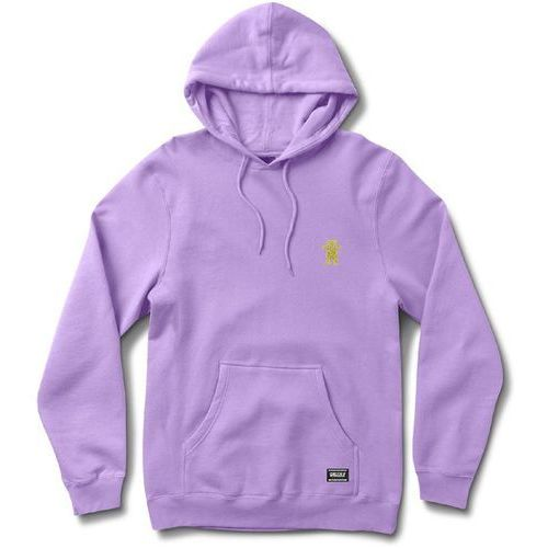 bluza GRIZZLY - Og Bear Embroidered Hoody Lavender/Yellow (LVYL) rozmiar: M, kolor fioletowy