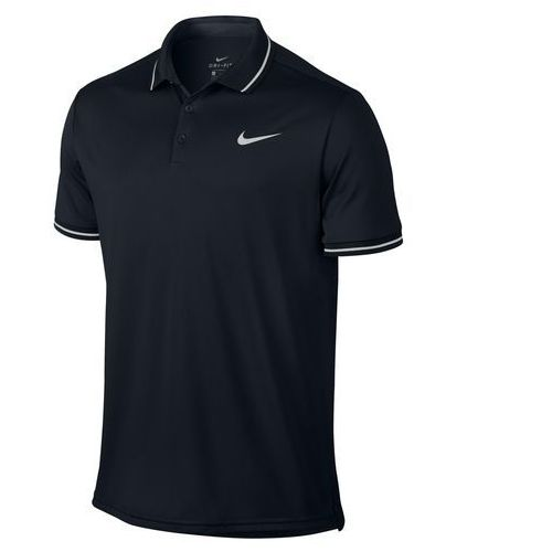 Nike koszulka tenisowa m nkct dry polo solid pq black s