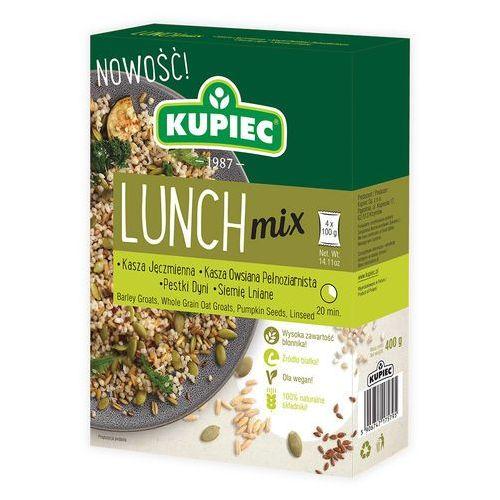 Lunch Mix kasza jęczmienna, kasza owsiana pełnoziarnista, pestki dyni, siemię lniane (kartonik) 4x100g