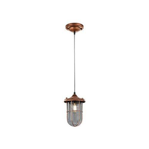 Trio BIRTE lampa wisząca Miedź, 1-punktowy - Dworek/Vintage/Antyk - Obszar wewnętrzny - BIRTE - Czas dostawy: od 3-6 dni roboczych (4017807286564)