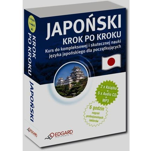 Japoński - krok po kroku (2 książki + 5 CD + MP3) (334 str.)