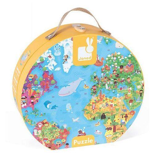 Janod - Puzzle w walizce Mapa Świata 300 elementów, J02775