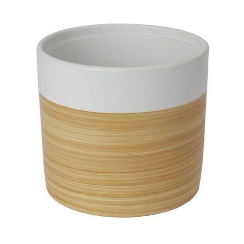 Doniczka ceramiczna GoodHome ozdobna 19 cm efekt drewna, C34
