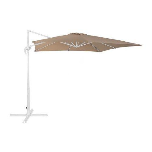Beliani Parasol ogrodowy 250 x 250 x 235 cm mokka/biały monza
