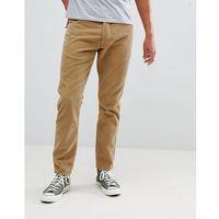 slider tapered cord trousers clay beige - beige, Wrangler