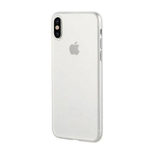 Etui Benks Lollipop iPhone X Transparent White, kolor biały