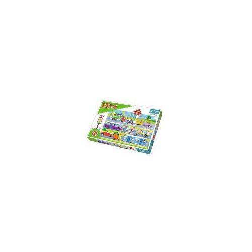 Trefl Puzzle baby 15 elementów maxi - pojazdy miejskie - poznań, hiperszybka wysyłka od 5,99zł!