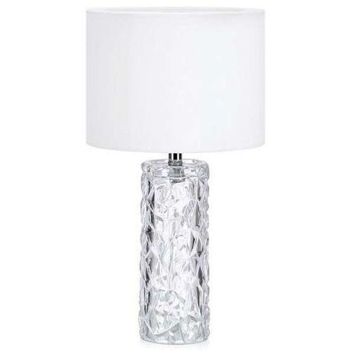 Nocna lampka stojąca madame 107189 abażurowa lampa stołowa biała marki Markslojd