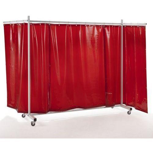 Ścianka ochronna dla spawacza premium, ruchoma,z zasłoną plandekową marki Quipo