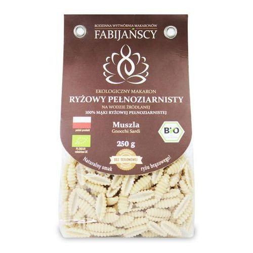 Makaron (z ryżu brązowego) muszla gnocchi sardi bezglutenowy bio 225 g - fabijańscy marki Fabijańscy (makarony)