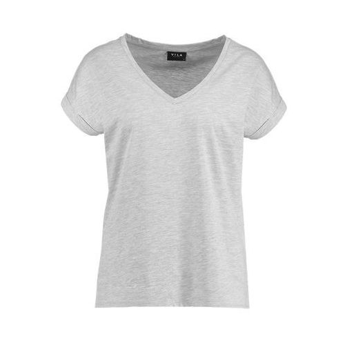Vila VIDREAMERS V NECK Tshirt basic light grey melange (5710638781541)