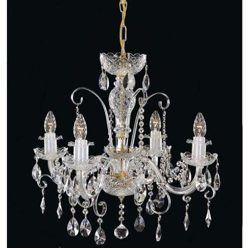 Żyrandol kryształowy 4-ramienny - marki Elite bohemia