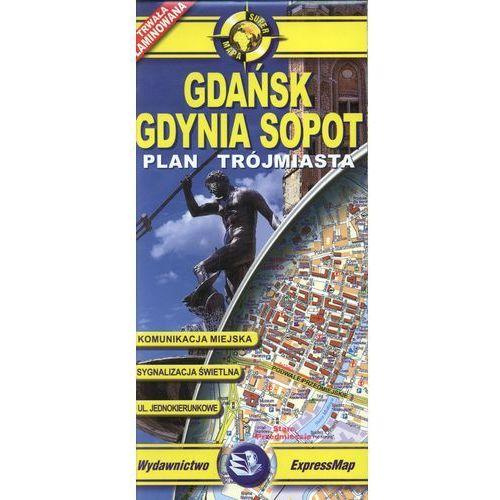 Gdańsk Gdynia Sopot mapa laminowana 1:26 000 ExpressMap, praca zbiorowa