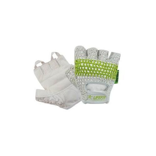 Rękawice fitness LIFEFIT Fit, rozmiar S białe/Zielone